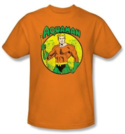 Aquaman Kids T-shirt - DC Comics Superhero Orange Youth