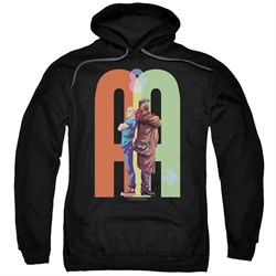 Image of Archer & Armstrong Hoodie Back To Back Black Sweatshirt Hoody