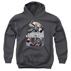 Image of Archer & Armstrong Kids Hoodie Dropping In Charcoal Youth Hoody
