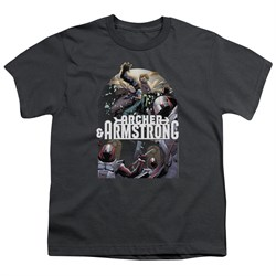 Image of Archer & Armstrong Kids Shirt Dropping In Charcoal T-Shirt