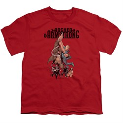 Image of Archer & Armstrong Kids Shirt Hang On Red T-Shirt