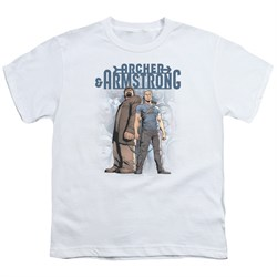 Image of Archer & Armstrong Kids Shirt Stare Down White T-Shirt