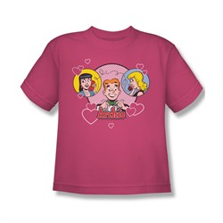 Image of Archie Shirt Kids Angry Girls Hot Pink T-Shirt