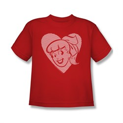 Image of Archie Shirt Kids Betty Heart Red T-Shirt
