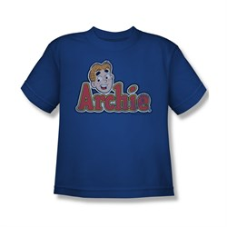 Image of Archie Shirt Kids Distressed Logo Royal Blue T-Shirt