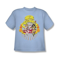 Image of Archie Shirt Kids Groovy Rock And Roll Light Blue T-Shirt