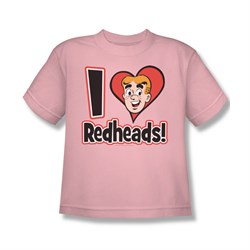 Image of Archie Shirt Kids I Love Redheads Pink T-Shirt