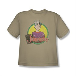Image of Archie Shirt Kids Jughead Distressed Logo Sand T-Shirt