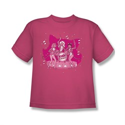 Image of Archie Shirt Kids Kitty Band Hot Pink T-Shirt