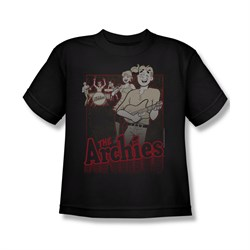 Image of Archie Shirt Kids Performing Black T-Shirt