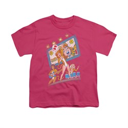 Image of Archie Shirt Kids The Big Screen Hot Pink T-Shirt