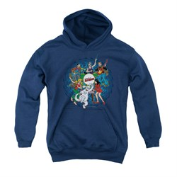 Image of Archie Youth Hoodie Psychedelic Navy Kids Hoody