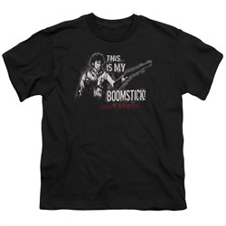 Image of Army Of Darkness Kids Shirt Boomstick Black T-Shirt