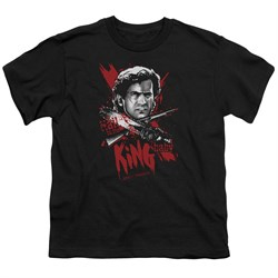 Image of Army Of Darkness Kids Shirt Hail To The King Black T-Shirt