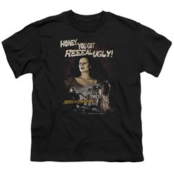 Image of Army Of Darkness Kids Shirt Reeeal Ugly! Black T-Shirt