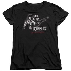Army Of Darkness Womens Shirt Boomstick Black T-Shirt