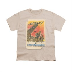 Image of Army Shirt Kids Action Poster Cream T-Shirt
