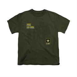 Image of Army Shirt Kids What Kind Of Strong Olive T-Shirt