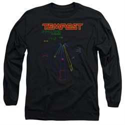 Atari Long Sleeve Shirt Tempest Screen Black Tee T-Shirt