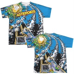 Atari Shirt Asteroids All Over Sublimation Youth Shirt Front/Back Print