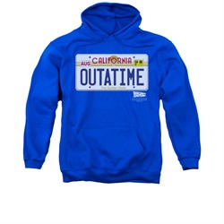$39.99 - Adults California Outatime Plate Blue Hoodie - S to 3XL