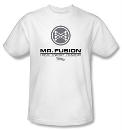 Image of Back To The Future II Kids T-shirt Mr. Fusion Logo White Shirt Youth