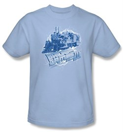 $17.99 - Kids Back To The Future III Light Blue T-shirt - Many Sizes