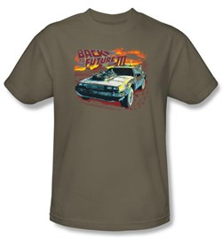 $19.99 - Adults Back To The Future III DeLorean Shirt - S to 3XL
