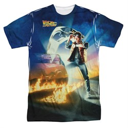 $24.99 - Back To The Future Movie Poster Sublimation Shirt - S to 3XL
