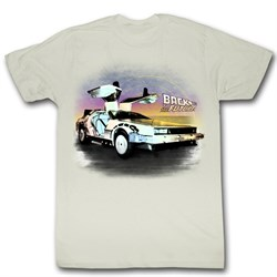 $19.99 - Adults Back To The Future Natural Unisex Shirt - S to 2XL