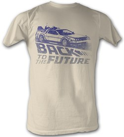 $19.99 - Mens Back To The Future Dirty White T-shirt - S to 2XL