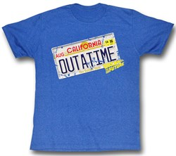 Back To The Future T-Shirt - Outta It Sea Blue Heather Adult Tee Shirt