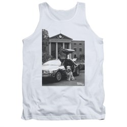 $19.99 - Adults Back To The Future White Tank Top - S to 2XL