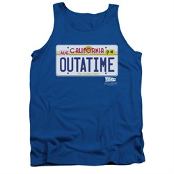 $19.99 - Adults Back To The Future Tank Top Outatime - S to 2XL