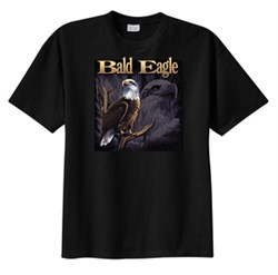 Product Image of Eagle T-shirt - Bald Eagle On Branch Bird Wildlife Adult Tee