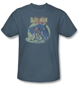 Batman And Robin Kids T-shirt In The Spotlight Slate Youth Tee