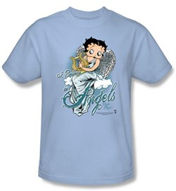Betty Boop Shirt for Girls - I Believe In Angels