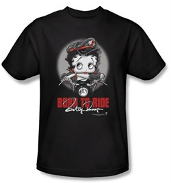 betty-boop-t-shirt-born-to-ride-adult-black-tee