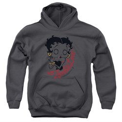 Image of Betty Boop Kids Hoodie Classic Zombie Charcoal Youth Hoody