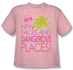 Image of Beverly Hills 90210 Kids Shirt Tagline Pink Youth Tee T-Shirt