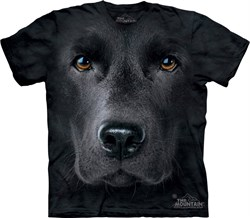 Tie Dye Black Lab Dog Face T-shirt