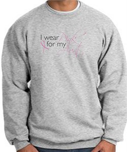 Image of Breast Cancer Sweatshirt I Wear Pink For My Aunt Heather