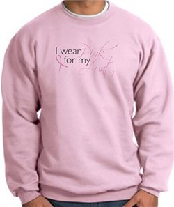 Image of Breast Cancer Sweatshirt I Wear Pink For My Aunt Pink