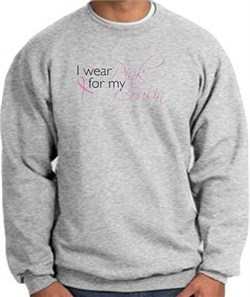 Image of Breast Cancer Awareness Sweatshirts I Wear Pink For My Cousin Grey