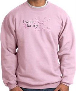 Image of Breast Cancer Awareness Sweatshirts I Wear Pink For My Cousin Pink