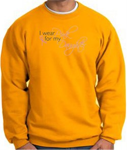 Image of Breast Cancer Sweatshirt I Wear Pink For My Daughter Gold Sweat Shirt