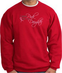 Image of Breast Cancer Sweatshirt I Wear Pink For My Daughter Red Sweat Shirt