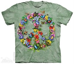 Image of Butterflies Forming a Peace Sign T-shirt Tie Dye Adult Tee