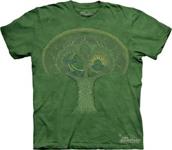Image of Celtic Roots Tree Shirt Tie Dye T-shirt Adult Tee