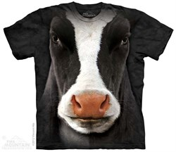 Image of Cow Face Shirt Tie Dye Adult T- Shirt Tee